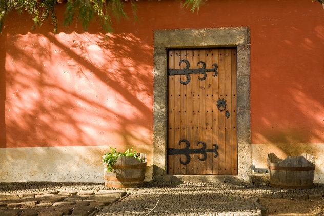 motief in muur portugese woning