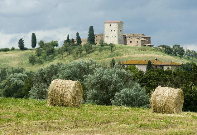 Typisch Toscaans landschap in de regio Lucca
