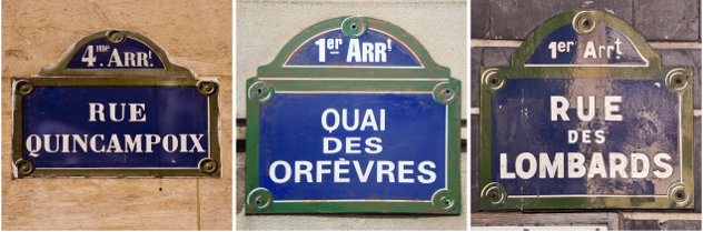 Paris street signs