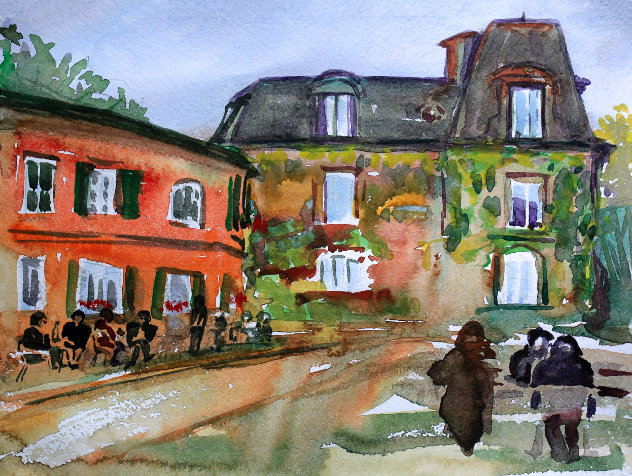 Watercolor painting of the Montmartre