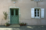 Doorway of traditional French house