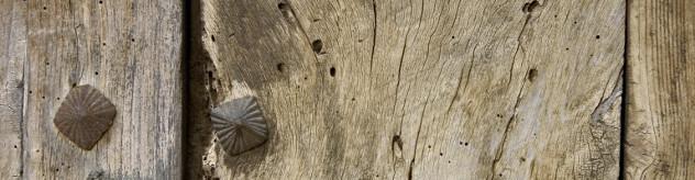 Part of wooden door France