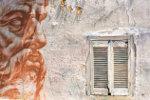 Wall with graffiti Greece