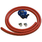 Gas Hose, Clips & Gas Regulator Butane 28 Mbar
