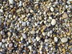 Pebbles on beach Ibiza