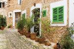 House in quiet street in Spanish village