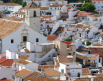 Overlooking the white village of Colmenar in the Spanish province of Malaga in Andalusia