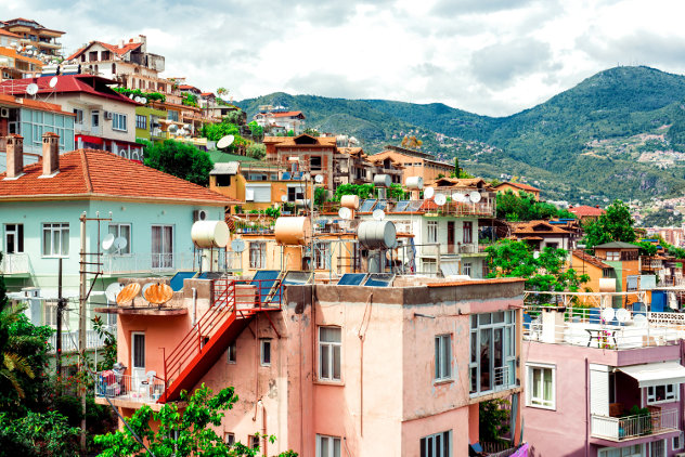 View on Alanya town